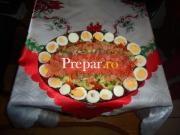 Salata cu somon si batog afumat