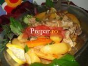 Jambon la tava cu cartofi