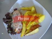 Pollo italiano si cartofi cu rozmarin