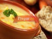 Supa de mazare si cartofi cu busuioc