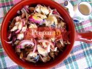 Salata de macrou si hering marinat