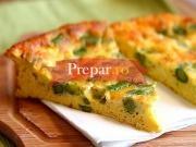 Fasole verde cu omleta la cuptor