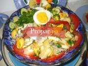 Salata asortata cu peste si oua