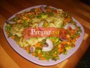 File de Pangasius pe grill cu amestec de legume