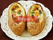 Cosulete de cartofi cu oua