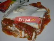 Lasagna cu legume, pasta de rosii si zacusca cu vinete