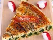 Pizza cu spanac si urda