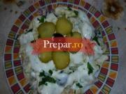 Salata de hering marinat si cartofi