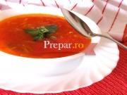 Supa de rosi cu crutoane aromate