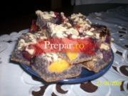 Prajitura cu mac si fructe