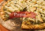 Pizza cu pui si sos Pesto